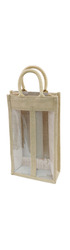 Hessian Wine Carrier - 2 bottle