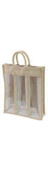 Hessian Wine Carrier - 3 bottle