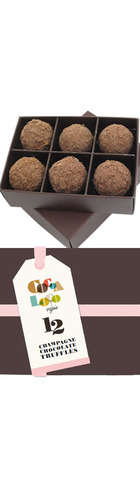 Chocolate Champagne Truffles  (pack of 6)
