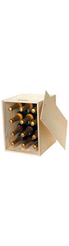 12 Bottle Wooden Box - Sliding Lid
