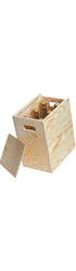6 Bottle Wooden Box - Sliding Lid