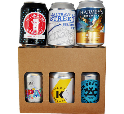 Local Canned Craft Beer Selection