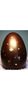 Large 22cm Deluxe Gold Leafed Easter Egg - 66% Tenor Dark Chocolate
