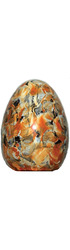 Standard 18cm Yellow Sunburst & Red Easter Egg - 66% Tenor Dark Chocolate Image