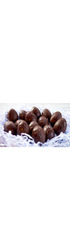12 Mini Ganache Filled Easter Egg Halves - 30% Nicalizo Milk Chocolate (60g)