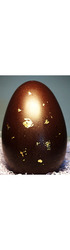Large 22cm Deluxe Gold Leafed Easter Egg - 30% Nicalizo Milk Chocolate