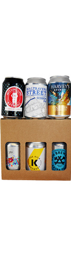 Local Canned Ale Selection in Gift Box