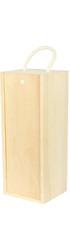 Wide Bottle Single Wooden Bottle Box - 1bt