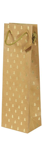 1 bt Gift Bag - Gold Christmas Tree