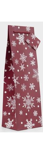 1 bt Gift Bag - Burgundy Snowflakes