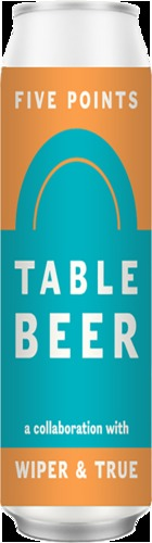 Five Points x Wiper & True: Table Beer - CAN