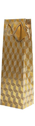 1bt Gift Bag - Gold Geometric