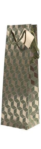 1bt Gift Bag - Green Geometric