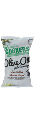 Sea Salt & Balsamic Vinegar  Olive Oil Crisps - 130g
